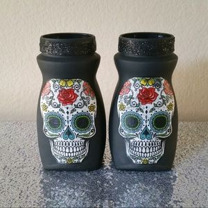 Day of The Dead Glass Vases (2 pc)